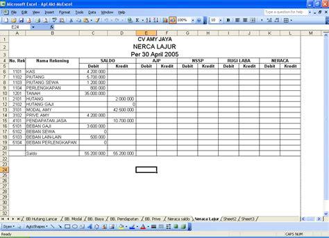 membuat laporan keuangan dengan excel pdf contoh jurnal penyesuaian dan laporan keuangan hontoh
