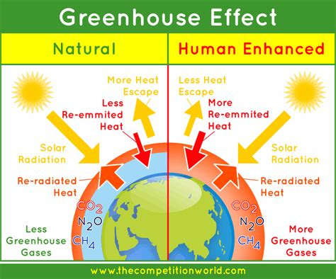 green house gasses global warming enhanced greenhouse effect