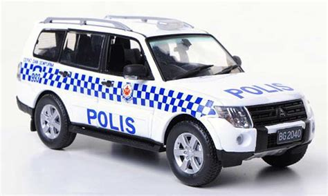 mitsubishi brunei mitsubishi pajero polis polizei brunei vitesse diecast