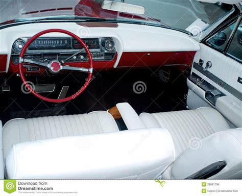 vintage car upholstery vintage car luxury interior royalty free stock image