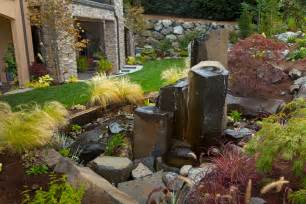 Cool Outdoor Rock Water Fountains Decorating Ideas Images in Landscape Contemporary design ideas