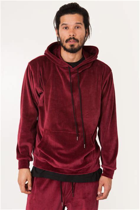Printed Velvet Hoodie burgundy velour velvet hoodie