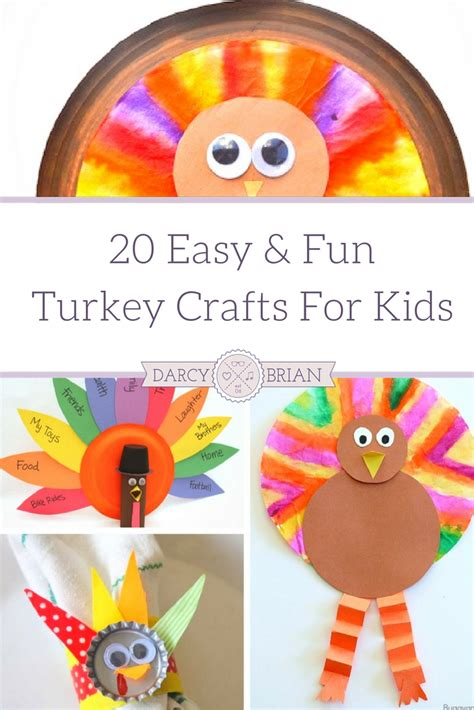easy crafts for for thanksgiving crafts 20 easy and turkey crafts for