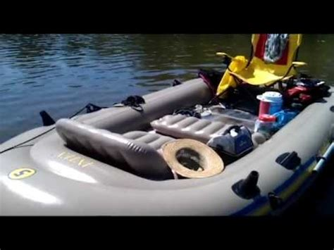 inflatable boat with trolling motor registration intex excursion 5 inflatable raft with 44lb trolling motor