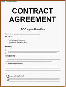Writing Agreement Letter Sle At Will Contract Template 28 Images Contract Agreement Template Contract Agreement Sle 23