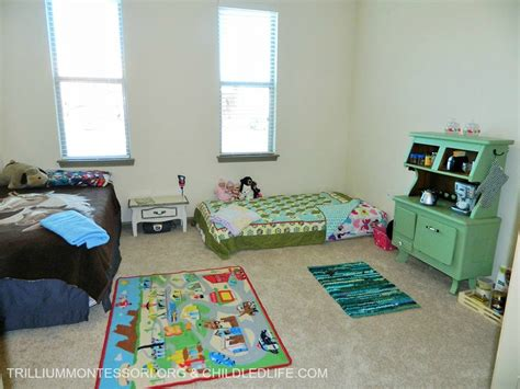 small space montessori setup children s room and closet