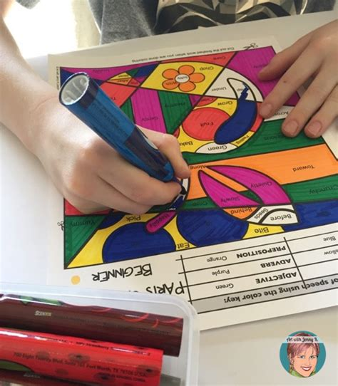 coloring page parts of speech beginner parts of speech coloring pages art with jenny k
