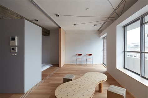 japanese home design studio apartments toyko apartment renovation embraces unfinished style