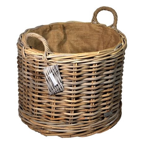 baskets for lined grey wheeled log basket roudham trading