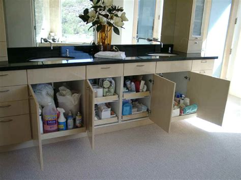 pull out shelving for bathroom cabinets storage solution