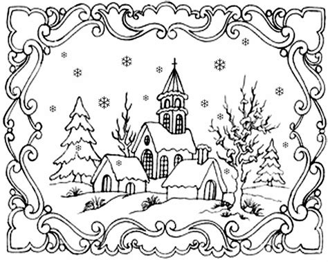 snow landscape coloring page free coloring pages printable pictures to color kids
