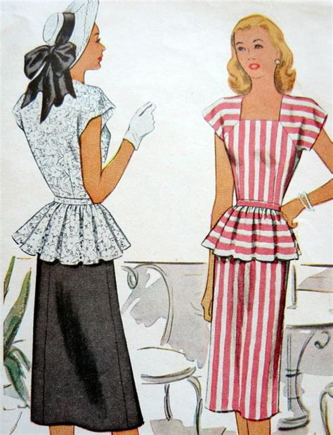 pattern peplum dress peplum fashion and history