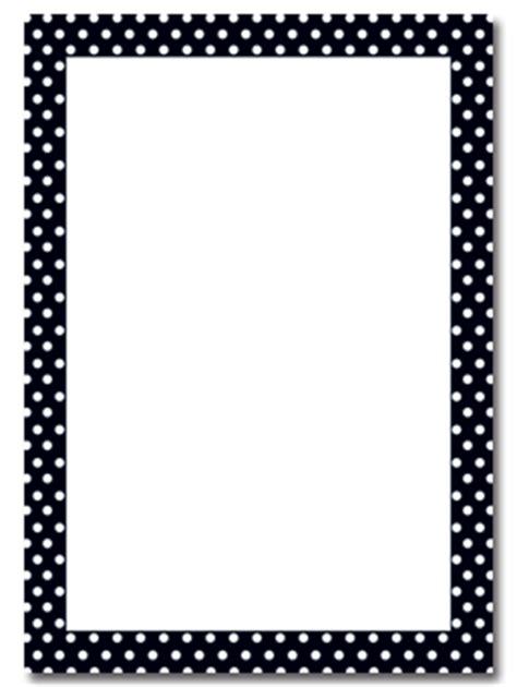 printable polka dot border paper borders for stationary printable