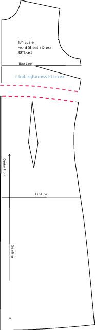 empire line pattern making how to draft a sheath dress pattern