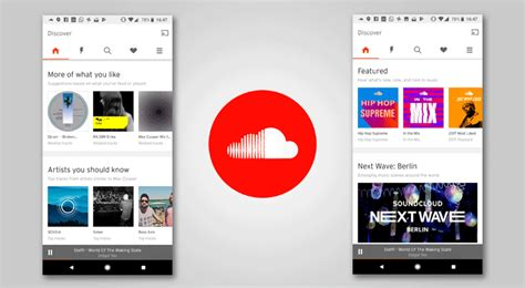 soundcloud s redesigned home screen features personalized