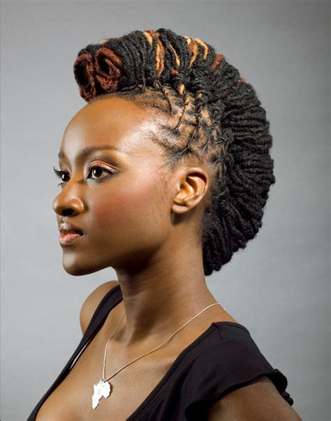 black women mohawk hairstyles and dreads in the middle dreadlocks