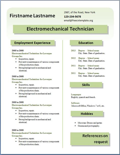 Kitchen Staff Free Cv Template Dot Org Curriculum Templates Free