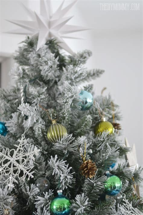 christmas trees tourquoise and silver our teal green silver and white vintage inspired flocked tree the diy