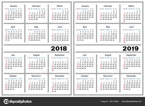 2018 Photo Calendar Template