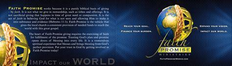 faith promise card template faith promise cards global missions