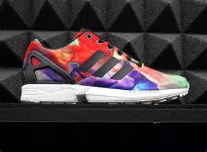colored adidas adidas zx flux in multi color graphic and more