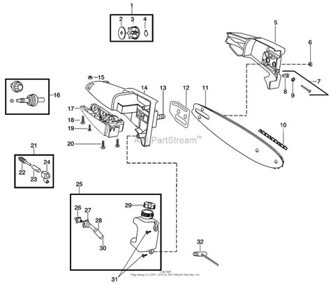 poulan thing chainsaw parts diagram poulan ppb5500p poulan pro parts diagram for pole pruner