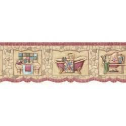 borders bathroom: red mosaic bath tub prepasted wallpaper border at lowescom