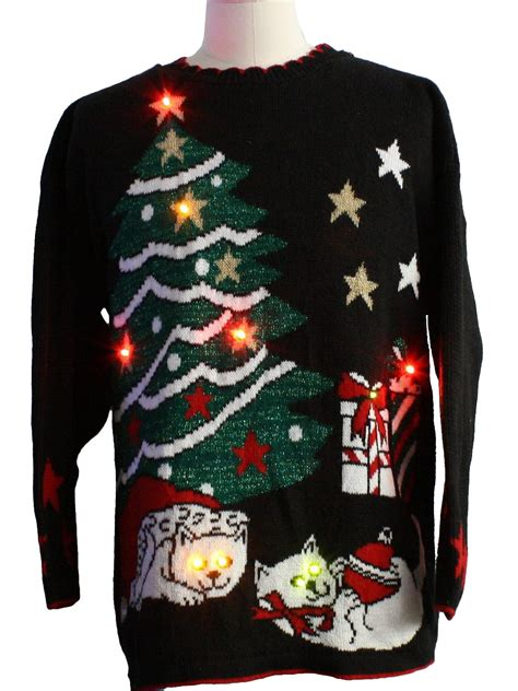 cat sweater with lights sweaters with cats on them