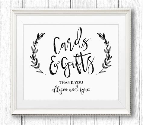 printable gift vouchers australia cards and gifts sign personalized wedding sign printable