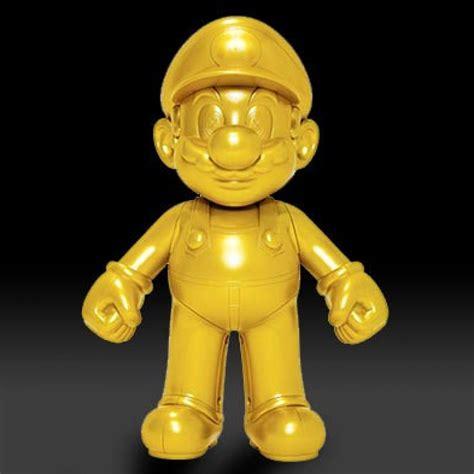 Bros Gold Mario Figurine Gold Mario