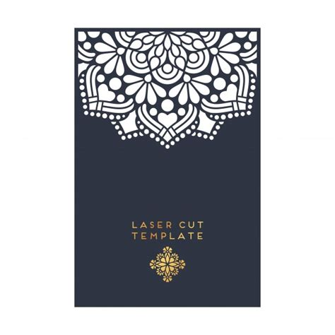 Decorative Laser Cut Template Vector Free Download Laser Cut L Template