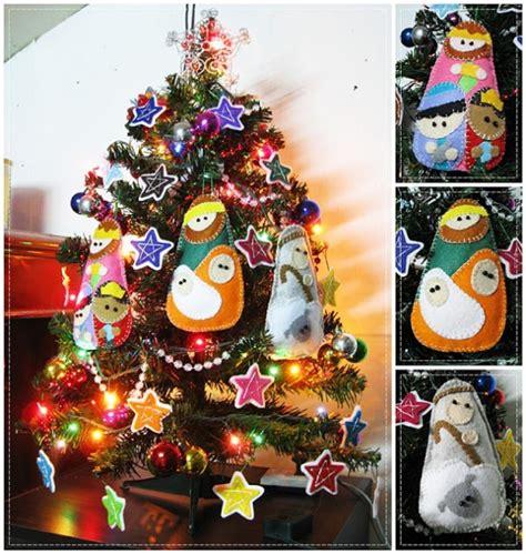 figuras arbol de navidad figuras para el arbol de navidad de fieltro imagui