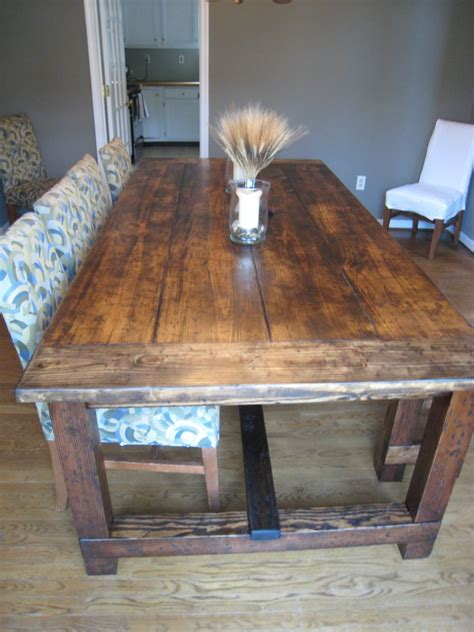 build a rustic dining room table diy wood design build wooden dining table plans