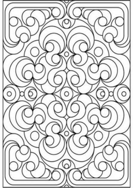spring coloring pages for middle school geometric patterns for kids to color coloring pages for