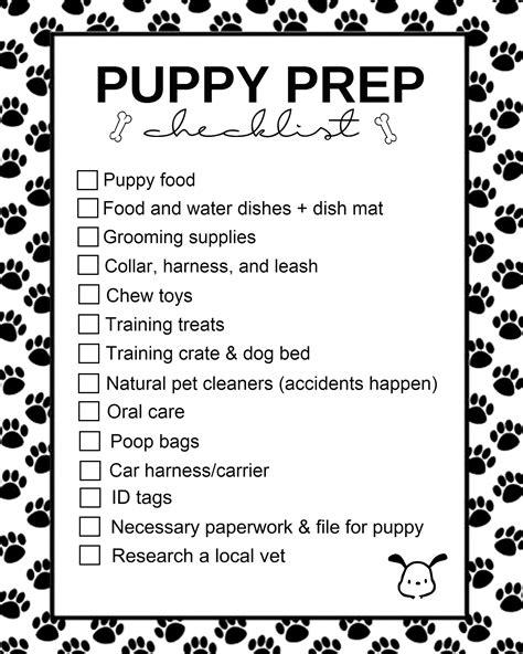 getting a puppy checklist puppy prep checklist living la vida holoka