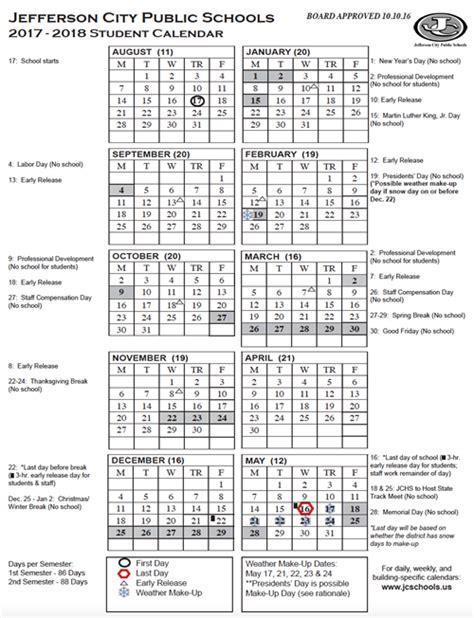 District 203 Calendar Yearly District Calendar Printable 2017 18 Student