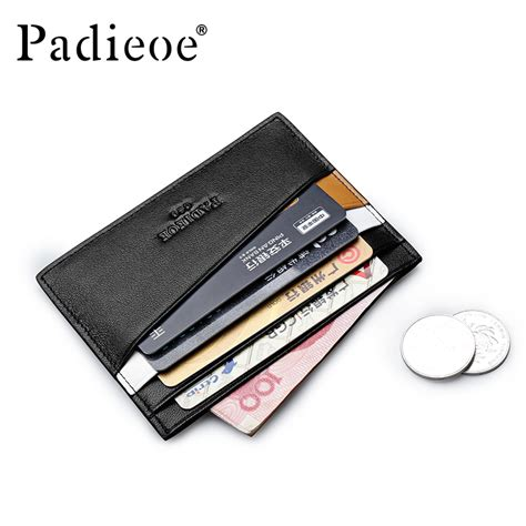padieoe men hot sale genuine leather thin card case mens