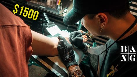 what it s like getting a 1500 tattoo at bang bang nyc