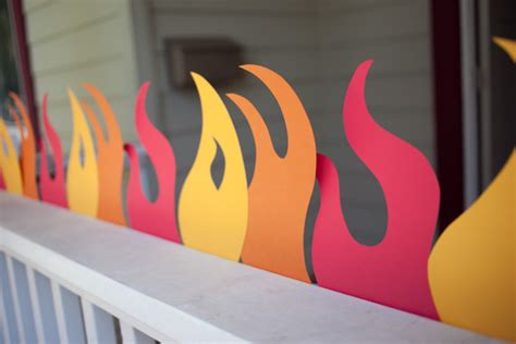 How To Make Flames Out Of Construction Paper - truck birthday printable flames and