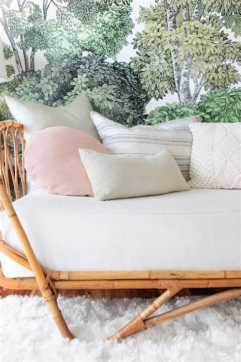 emily henderson sofa bed how to style a bed like a sofa or daybed emily
