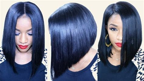 quick weave bob hairstyles tutorials flawless bob cut tutorial video bob cut wig and bobs
