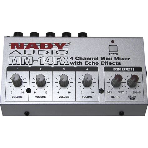 Power Lifier Digital Stereo Echo Mixing 4 Imput Mic 150wattx2 mm 14fx 4 channel mini mixer with echo effects nady systems inc