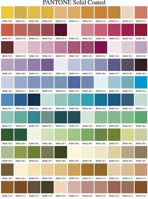 pantone color palette pantone color