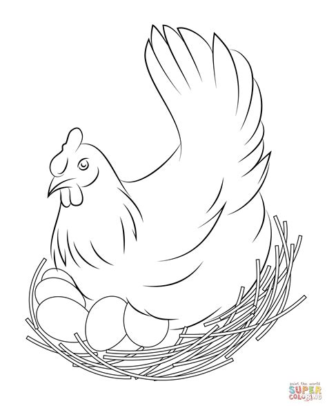 chicken nest coloring page chicken coloring pages free coloring pages coloring