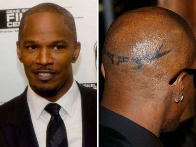 jamie foxx head tattoo 15 tattoos their stories