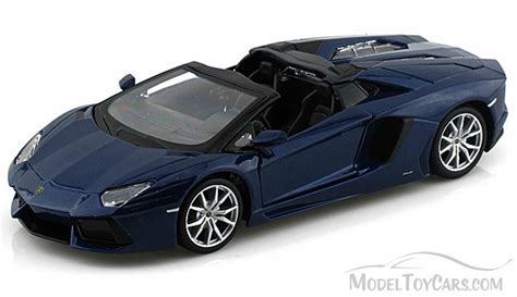 Model Car Lamborghini Aventador Lamborghini Aventador Lp 700 4 Roadster Convertible Blue
