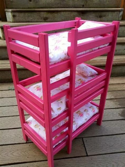 do it yourself bunk beds triple doll bunk bed do it yourself home projects from ana white kid ideas