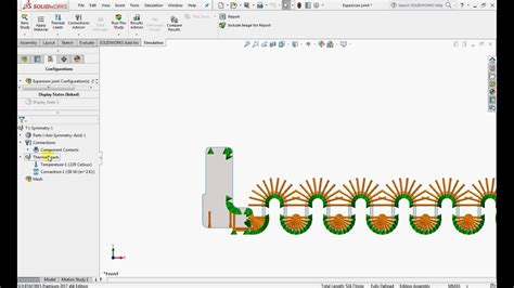 tutorial solidworks thermal analysis thermal analysis using 2d simplification in solidworks