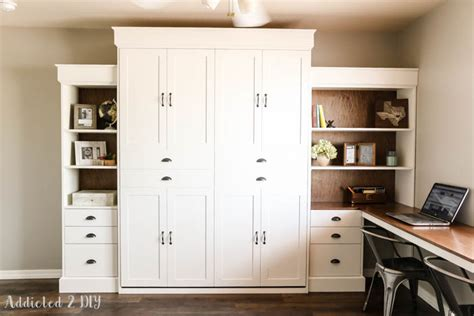 murphy bed with bookshelves diy modern farmhouse murphy bed how to build the bed and