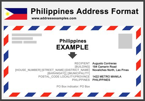letter address format philippines philippines address format addressexles